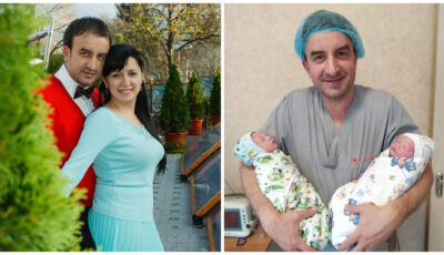 Cuplul de ginecologi Natalia și Cătălin Cauș, în așteptarea celui de-al treilea bebeluș