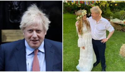 Premierul britanic a fost mire în weekend. Primele imagini de la nunta secretă