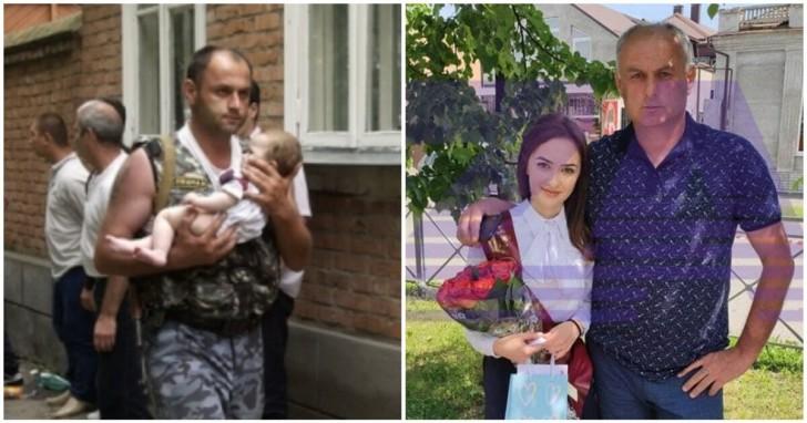 Acest bărbat a salvat o fetiţă de 6 luni dintr-un atac terorist. După 17 ani, salvatorul apare la festivitatea de absolvire