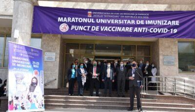 4.068 de cetățeni, imunizați în cadrul Maratonului universitar de vaccinare sunt așteptați la rapel pentru cea de-a doua doză de ser