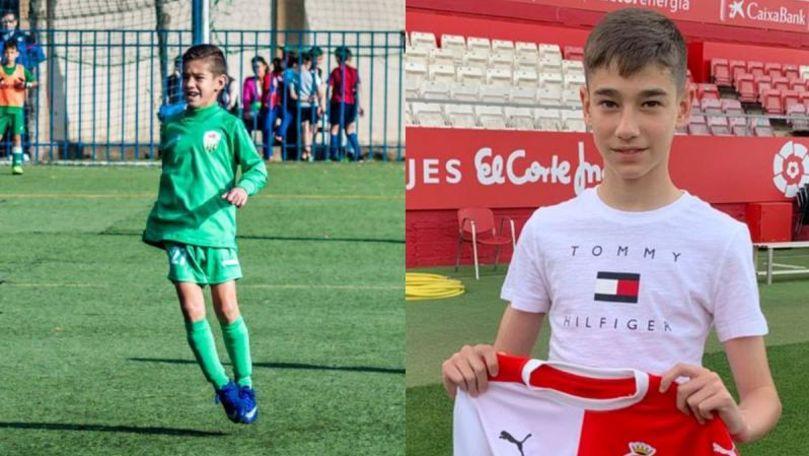 Foto: Un băiețel moldovean a devenit jucătorul uneia dintre cele mai bune echipe de fotbal din Spania