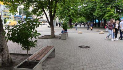Un scuar din sectorul Botanica a fost renovat. Pavaj și bănci noi