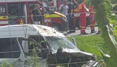 Microbuz din Republica Moldova, implicat într-un accident în România