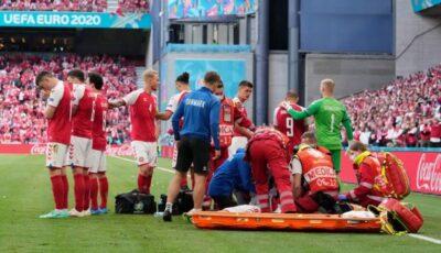 Moment dramatic la Euro 2020. Fotbalistul Eriksen s-a prăbușit la pământ și a avut nevoie de resuscitare