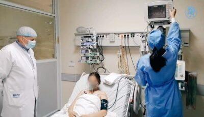 O femeie însărcinată cu pneumonie a ajuns la spital în stare critică. Medicii au reușit să o salveze