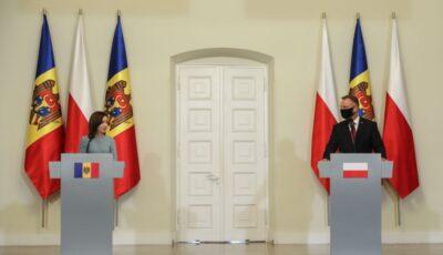 Președinta Republicii Moldova, întrevedere cu Președintele Poloniei, Andrzej Duda
