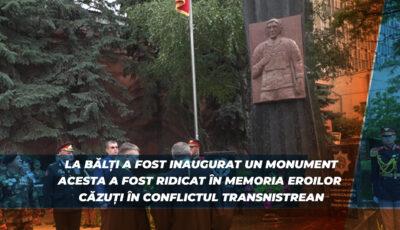 Un monument a fost ridicat în memoria eroilor căzuți în războiul de pe Nistru