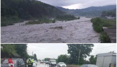 Ciclon în România, ploile abundente fac dezastru. Un bărbat luat de ape, găsit la un kilometru distanță. Gospodării inundate