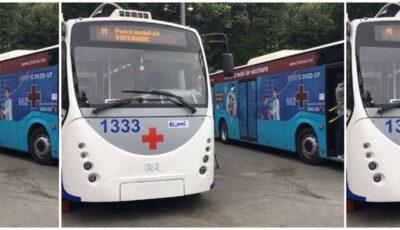 Troleibuzul mobil de vaccinare va staționa astăzi în sectorul Ciocana