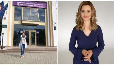 Jurnalista Maria Marian a absolvit Universitatea de Stat de Medicină şi Farmacie