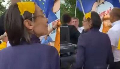 Fosta ministră a Educației, Corina Fusu, surprinsă cu masca pe cap