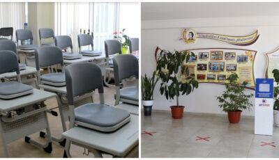 """Liceul Teoretic """"Mihai Eminescu"""" din Strășeni, renovat complet și dotat cu tehnică, laboratoare și mobilier nou"""