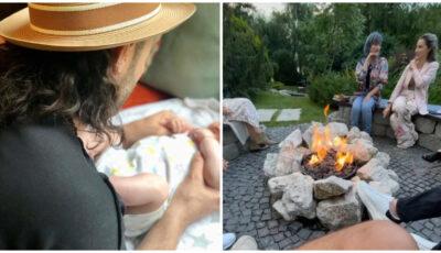 Imagini de la botezul fetiței lui Smiley și a Ginei Pistol. Invitații au sărit în piscină