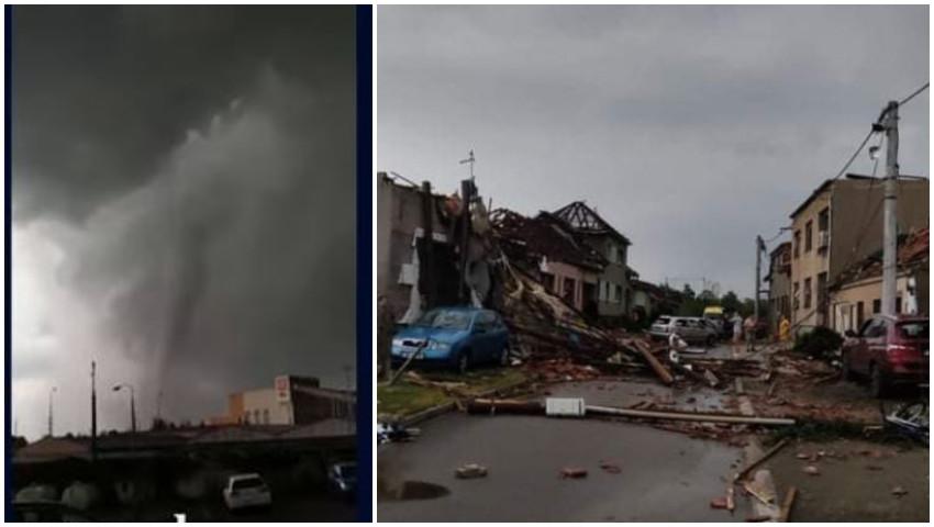 Video! Tornadă devastatoare în Cehia: mai mulți morți și 150 de răniți, inclusiv copii