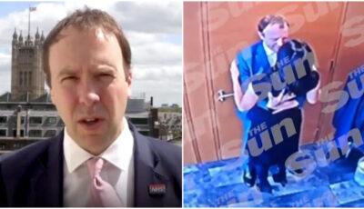 Ministrul britanic al Sănătății, demis după ce a fost filmat cum își sărută amanta. A încălcat regulile de distanțare socială