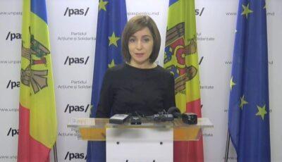 Maia Sandu: Contractul cu Pfizer pentru achiziționarea a 700.000 doze de vaccin a fost semnat
