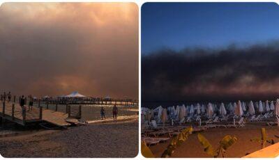 Incendiile forestiere din sudul Turciei au ajuns în stațiunile turistice: mai multe hoteluri din Marmaris au fost evacuate