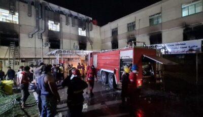 Incendiu puternic izbucnit la un spital Covid. Cel puțin 36 de oameni au murit