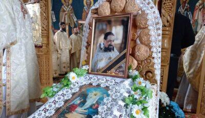 Preacuviosul Părinte Veniamin, înjunghiat într-un apartament din Capitală, a fost înmormântat în curtea bisericii unde a slujit
