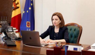 Maia Sandu promite să dezvolte promovarea produselor moldovenești peste hotare