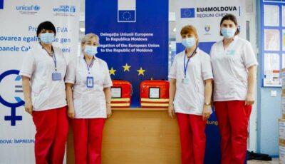 Asistenții și asistentele medicale din Cahul și Ungheni au primit echipamente de antropometrie pentru vizite la domiciliu din partea Uniunii Europene