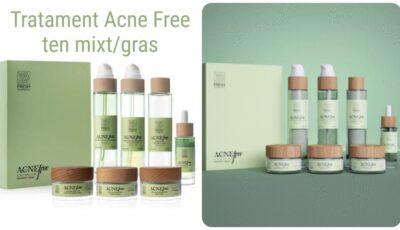 Cel mai eficient tratament antiacneic pe bază de ingrediente naturale, ce conține un set de 7 produse cosmetice