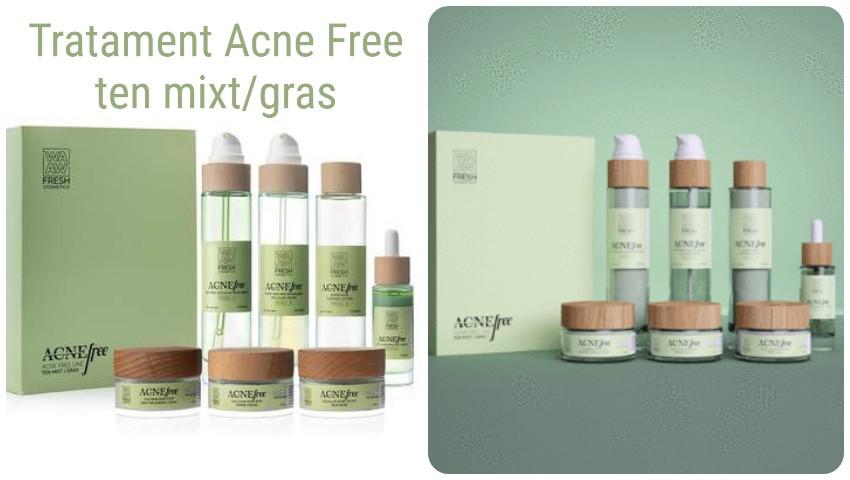 Foto: Cel mai eficient tratament antiacneic pe bază de ingrediente naturale, ce conține un set de 7 produse cosmetice