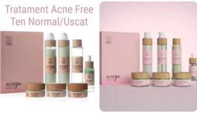 Cel mai eficient tratament antiacneic pe bază de ingrediente naturale ce conține un set de 7 produse cosmetice