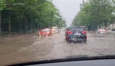Mașinile plutesc prin apă, în sectorul Sculeanca