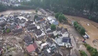 Peste 1.300 de oameni sunt dați dispăruți, în urma inundațiilor din Germania