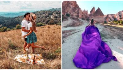 Sunt împreună de la 14 ani. Moldoveancă, cerută în căsătorie într-un loc de vis