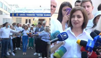 Video! Maia Sandu, președinta Republicii Moldova, și-a exercitat dreptul la vot