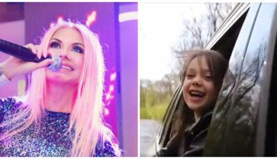 O fetiță din Ucraina cântă, în limba română, o piesă din repertoriul Ludmilei Bălan