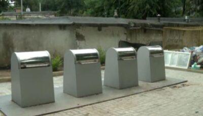 Prima platformă subterană de colectare a deșeurilor, amenajată într-un sector din Capitală