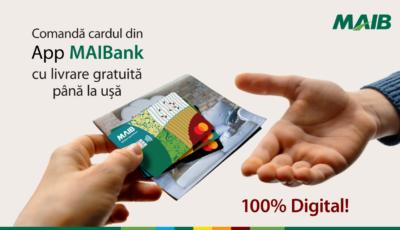 La MAIB cardurile noi ajung gratuit acasă