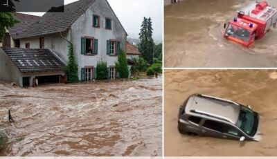 Dezastru în Germania, din cauza ploilor torenţiale. Zeci de oameni dispăruţi, case prăbuşite, maşini sub ape, pompieri morţi în misiune