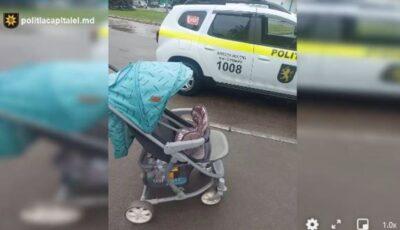 Un cărucior și o trotinetă, furate din scara unui bloc din capitală