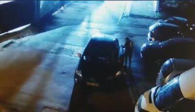 O șoferiță din Capitală a rămas fără roțile de la Lexus