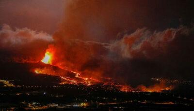Erupția vulcanică din La Palma se intensifică, pompierii s-au retras