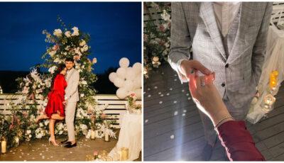 Emoții mari pentru bloggerița Daniela Cheltuitor! Tânăra a fost cerută în căsătorie într-un decor de vis. Vezi cum a surprins-o iubitul!