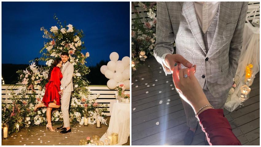 Foto: Emoții mari pentru bloggerița Daniela Cheltuitor! Tânăra a fost cerută în căsătorie într-un decor de vis. Vezi cum a surprins-o iubitul!