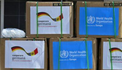 Circa un milion de măști de protecție au fost donate spitalelor din țara noastră de către Germania și OMS