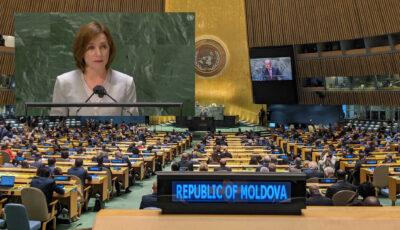"""Video! Discursul Maiei Sandu de la tribuna ONU: ,,Împreună, am ales democrația și libertatea în locul corupției și al capturării statului"""""""