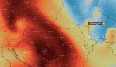 Norul toxic a acoperit Moldova. Imagini din satelit