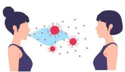 Ilustrație creată de specialiști. Cum se răspândește virusul în cazul persoanelor vaccinate și a celor nevaccinate