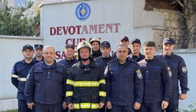 Un pompier moldovean a fost trecut în rezervă într-un mod inedit