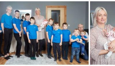 O mama care a născut 10 baieți la rand a adus pe lume și o fetita