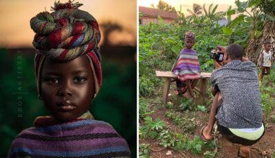 Un fotograf din Nigeria a arătat scenele adevărate din spatele ședințelor foto