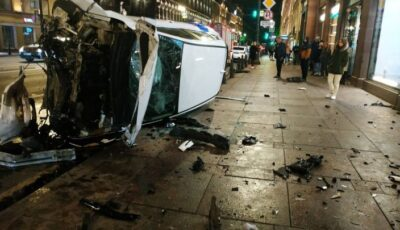 Accident groaznic în Rusia. Un vitezoman a lovit mai multe persoane pe o zebră