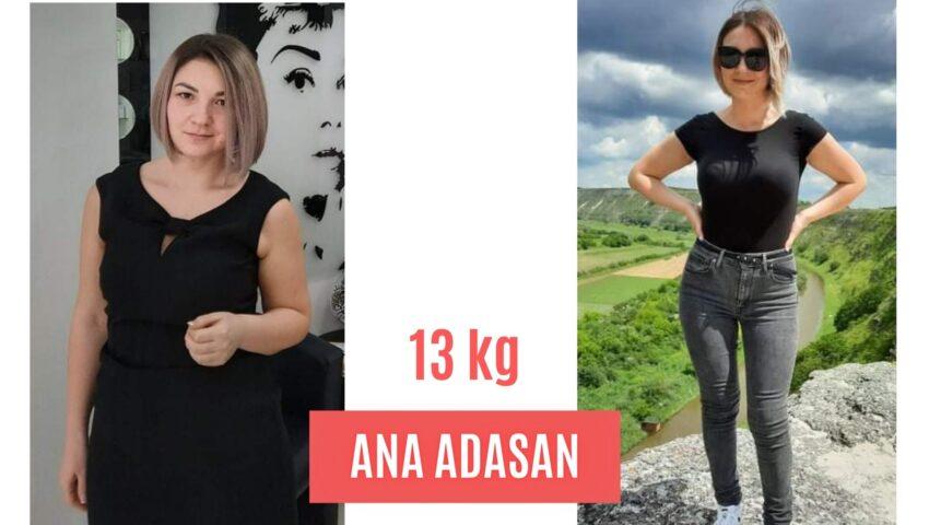 """Cele 13 kilograme ,,topite"""" au convins-o că stilul sănătos de viață poate garanta atingerea scopului"""